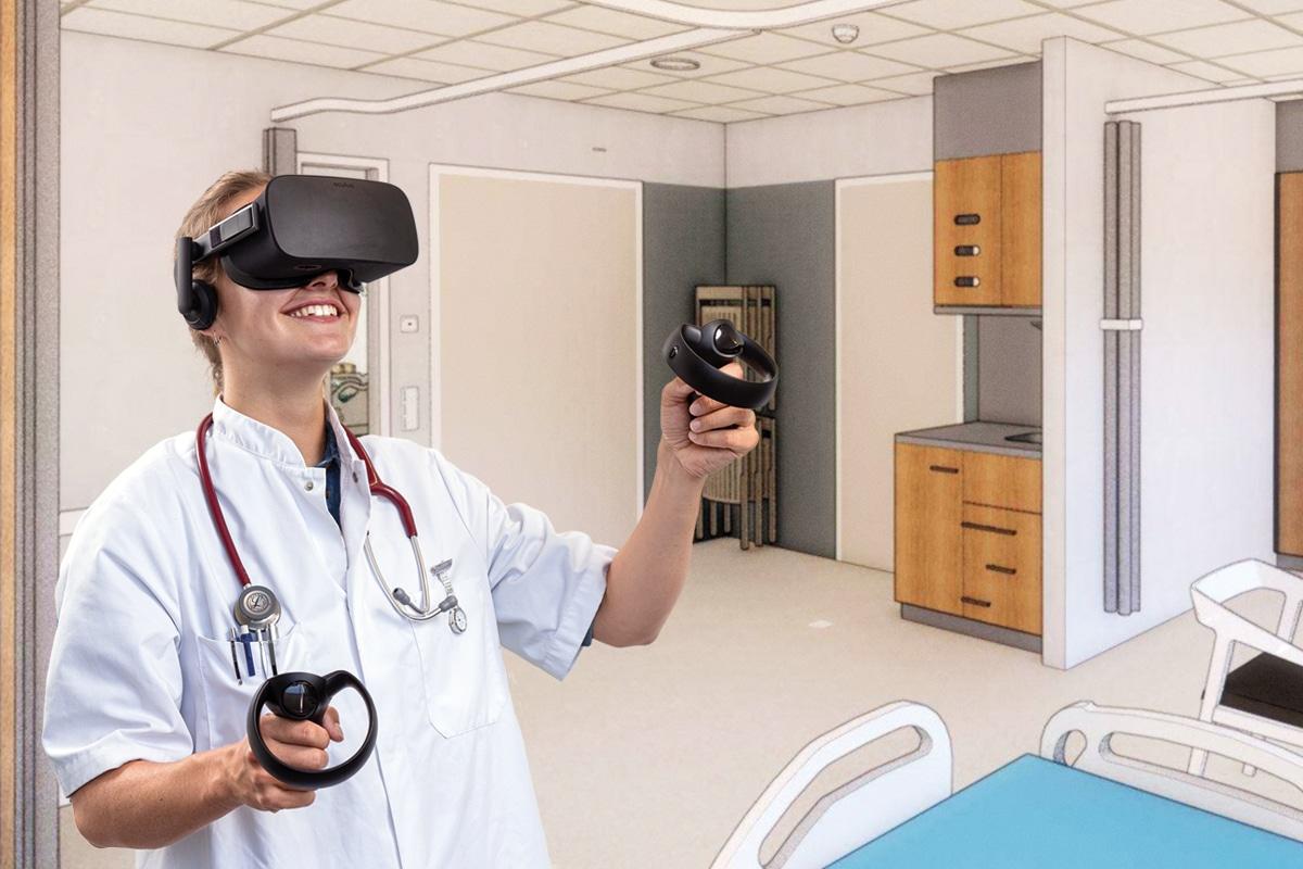 VR owl ziekenhuis VR headset